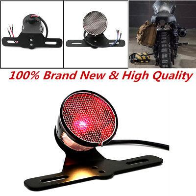 Red Lens Rear Stop LED Tail Light Brake For Motorcycle Bobber Chopper Cafe Racer