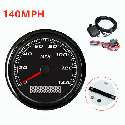 NEW 140MPH Car Motorcycle Speedometer Gauge with Backlight 85MM 3-2/5'' GPS