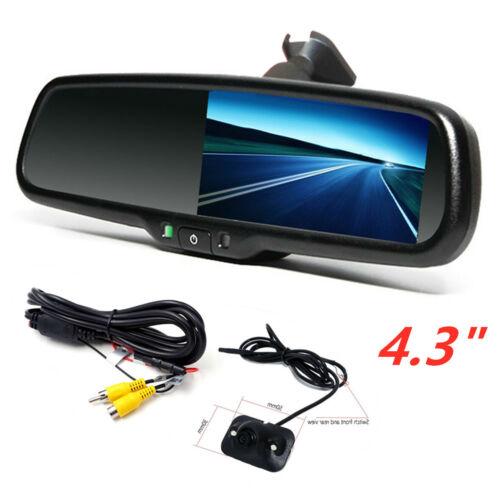 "Car Rear View Mirror Monitor Backup Camera Kit Rearview System Night Vision 4.3"""