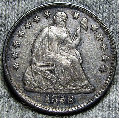 1858 Seated Liberty Half Dime -- TYPE COIN -- #O920