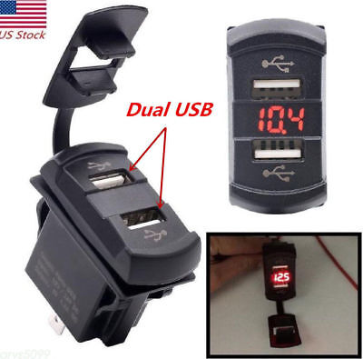 ROCKER SWITCH STYLE USB CHARGING PORT JEEP JK, CJ, TJ, MJ YJ NEW ITEM FREE SHIP Rocker Style Switch