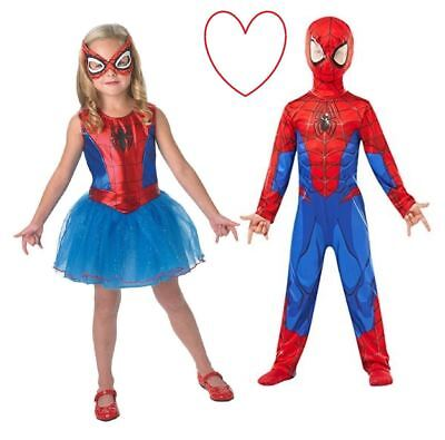 Kids Spidergirl Spiderman Fancy Dress Costume Girls Boys Superhero Book Day - Spiderman Costumes For Girls