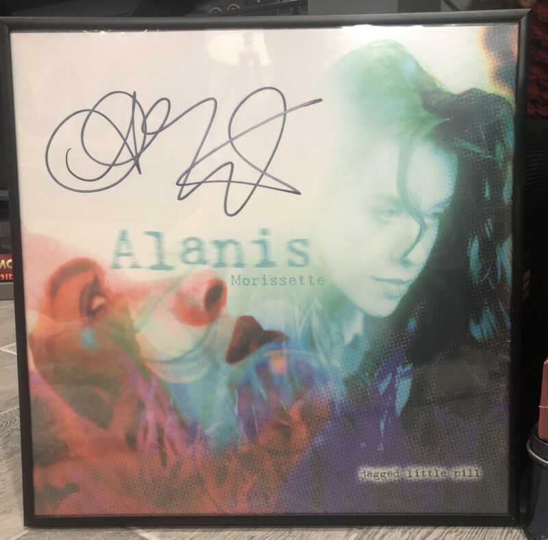 Alanis Morissette Jagged Little Pill Autographed Vinyl Album Framed