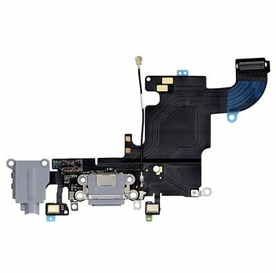 "Apple iPhone 6S 4.7"" USB Charging Port Dock Audio Headphone Flex Cable Gray New"