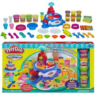 Play-Doh Sweet Shoppe Cake & Ice Cream Confections 40+ Accessories + 10 Cans