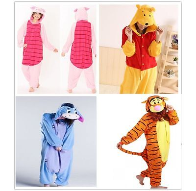 Winnie the pooh character Unisex Onesie19 Fancy Dress Costume Hoodies Pajama UK