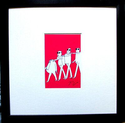TOMI UNGERER >Homo sovieticus< HAND-SIGNIERT orig.SIGNED + Rahmen
