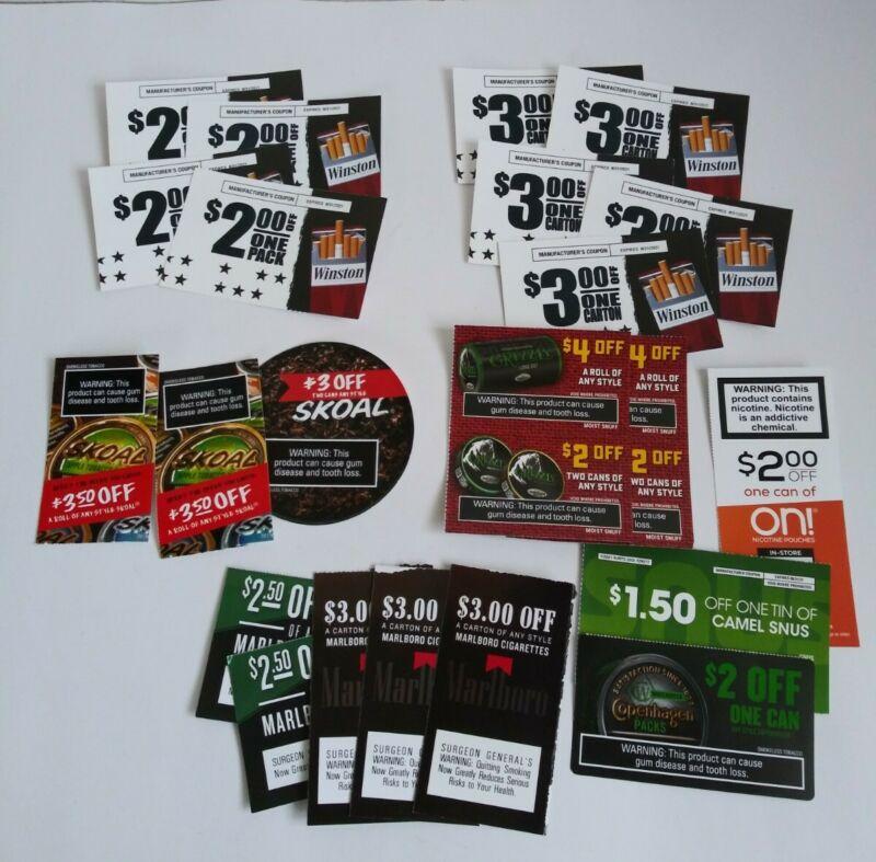 $70+ off Winston Skoal Marlboro Copenhagen Grizzly Cigarettes Expire 8/13/21+ on