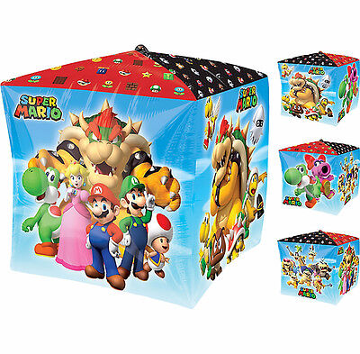 Super Mario Brothers CUBEZ Foil Balloon Birthday Party Supplies Decoration CUBE - Mario Brothers Birthday Party Supplies