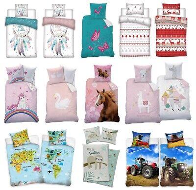Bettwäsche 135 x 200 Baumwolle Kinderbettwäsche Partnerbettwäsche NEU 2tlg. Set
