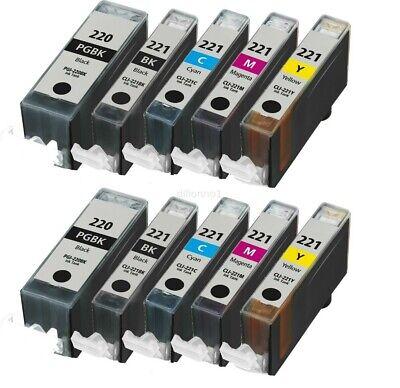 10 Pack PGI-220 CLI-221 Ink Cartridges for Canon PIXMA MP560 MP620 MP640 Printer ()