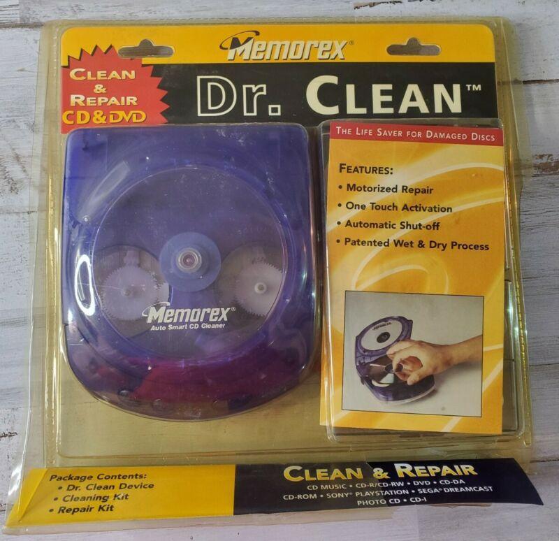 Vintage 2000 RARE Memorex Dr. Clean CD/DVD Cleaning and Repair Kit New NIB