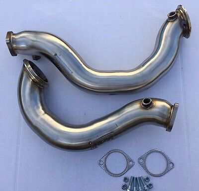 """1320 Performance 3"""" Stainless Steel Catless Downpipes 2007-10 BMW 135i 335i N54"""