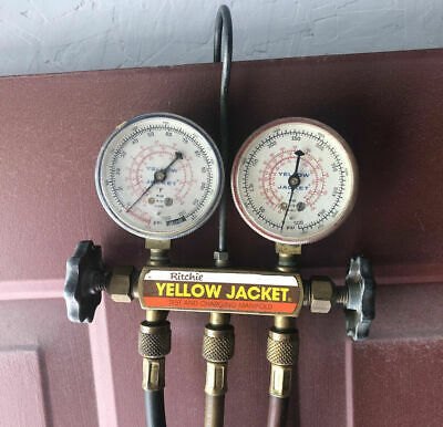 Ritchie Yellow Jacket Hvac Test Charging Manifold Gauges R12 R22 R502