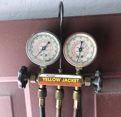 Ritchie Yellow Jacket Hvac Test Charging Manifold Gauges R12 R22 R502