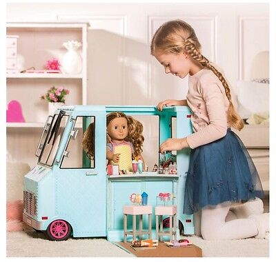 Our Generation Sweet Stop Shop Blue Ice Cream Truck For American Girl 18  Dolls