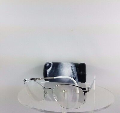 Brand New Authentic ic! Berlin Eyeglasses Eye-Popping Fashion Silver Frame 51mm