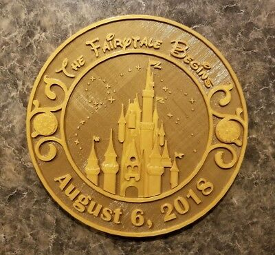 Personalized Magic Kingdom Themed Wedding Gift Plaque ( Disney Home Decor )](Disney Personalized Gifts)
