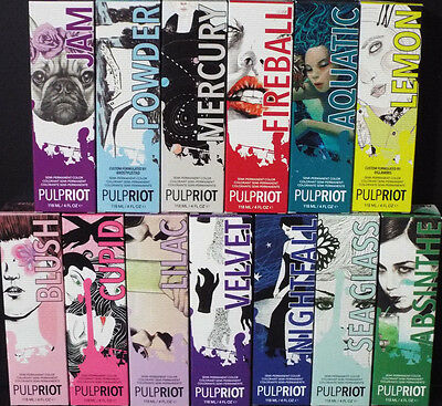 Pulp Riot Semi Permanent Professional Direct Hair Color 4Oz  Select Any Shade