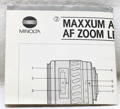 Инструкции и руководства Minolta Maxxum AF