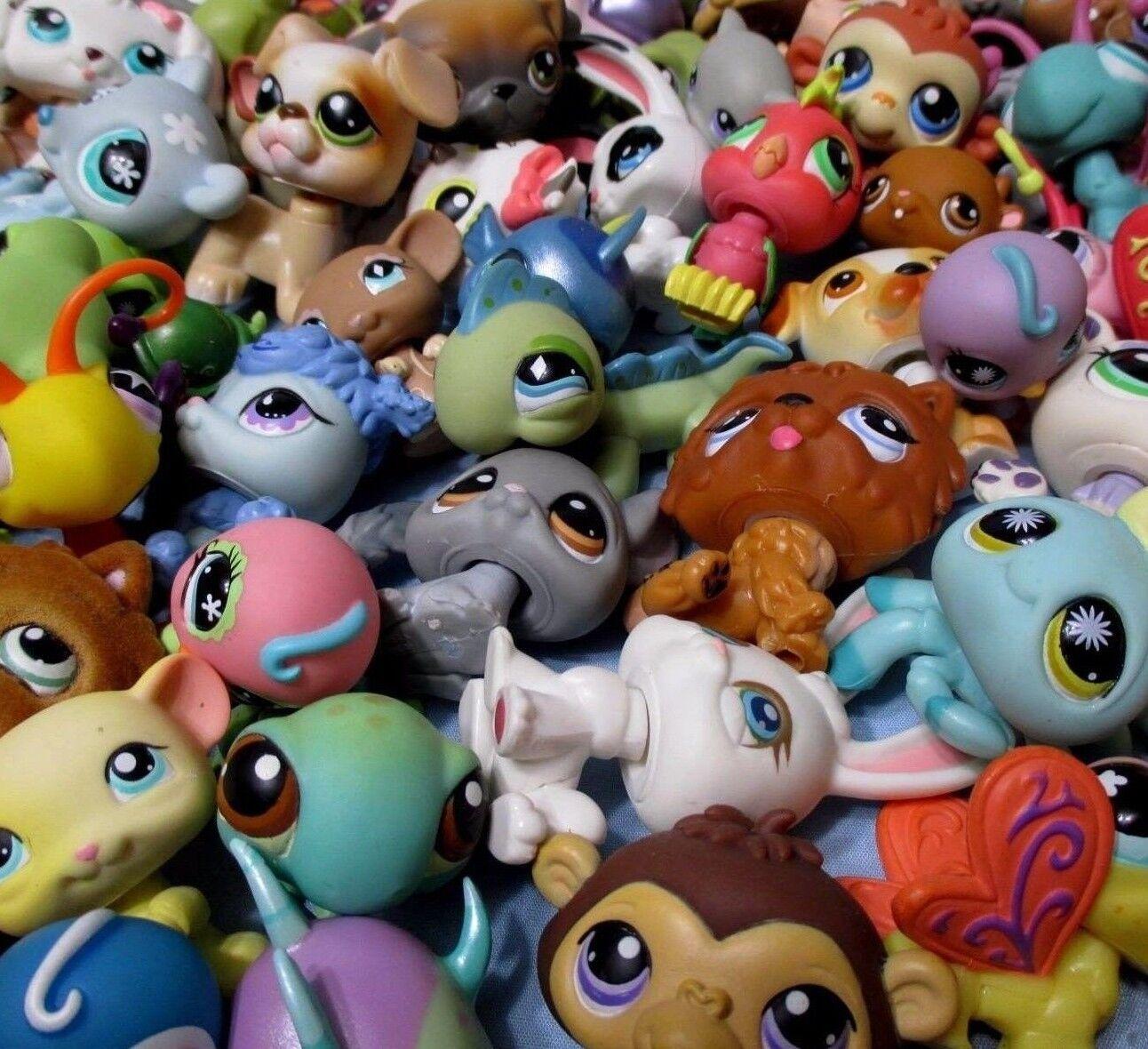 Littlest Pet Shop Mixed Lot 10 Pcs Surprise Random Pet Figures Authentic Lps
