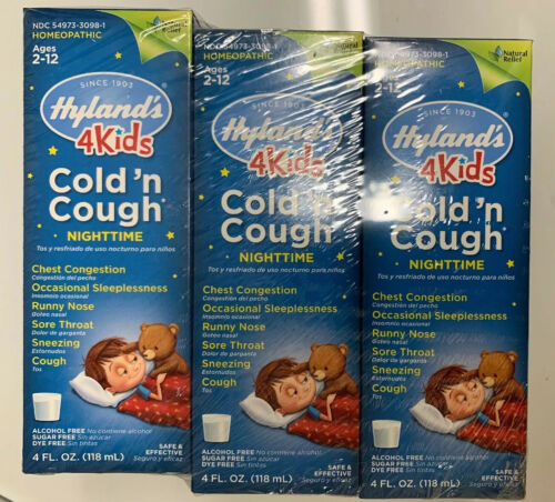 Hylands Cold and Cough 4 Kids Nighttime Cough Syrup Medicine
