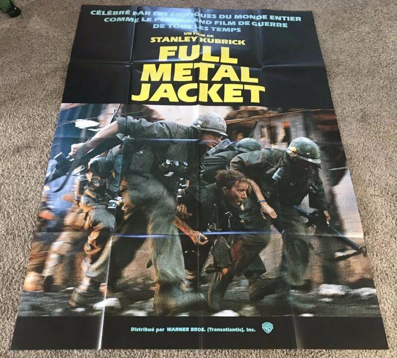 Original 1987 Full Metal Jacket French Grande Movie Poster, 47x63, Huge