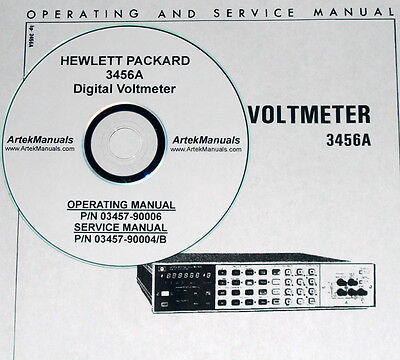 Hp 3456a Operator Service Manuals 2 Volumes