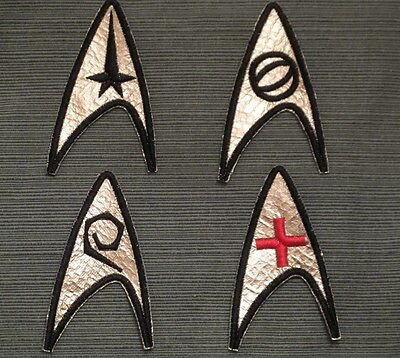 Star Trek TOS Original Series Insignia Patches - Set of 4 USS Enterprise Emblem