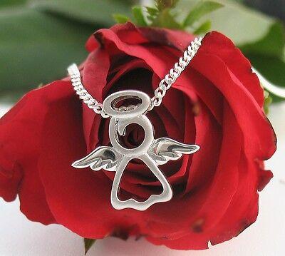 Schutzengel Anhänger Engel Kette Echt Silber Talisman Glücksbringer Amulet neu