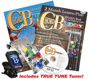 CHORD BUDDY Guitar Learning Teaching System Practrice DVD Book TUNER CHORDBUDDY