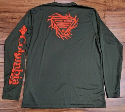8f96e2ca19b Columbia Mens MEDIUM PHG Performance Hunting Gear LS Shirt Fishing Sun  OMNISHADE
