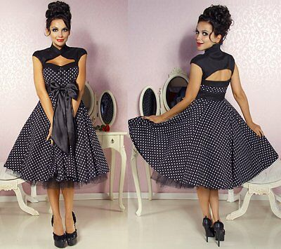 50er Jahre Pin Up Vintage Rockabilly Kleid Tanzkleid / Petticoat Rock (50er Jahre Pin Up Kleid)