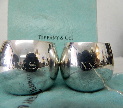 Tiffany Baby Gifts ((2) Tiffany & Co Baby Cup Gift Silver Makers Sterling 25005 - Engraved 'N.V.S.')