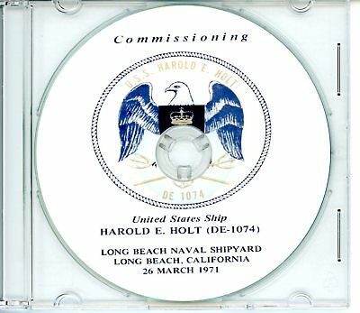 USS Harold E Holt DE 1074 Commissioning Program 1971  Navy Plank Owners