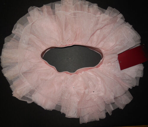 NWT Mirella Ballet Dance Pink Flower Rhinestone Tutu Skirt Girls Child 4/6 MS62C