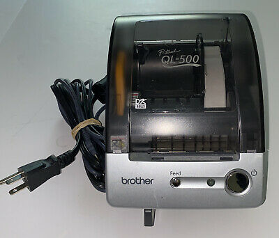 Brother P-touch Ql-500 Thermal Label Printer With Cords Excellent Condition