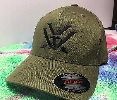 Black Ball Cap Hat - Vortex Optics Logo Embroidered Flexfit Ball Cap Hat Black, Olive Green or Navy
