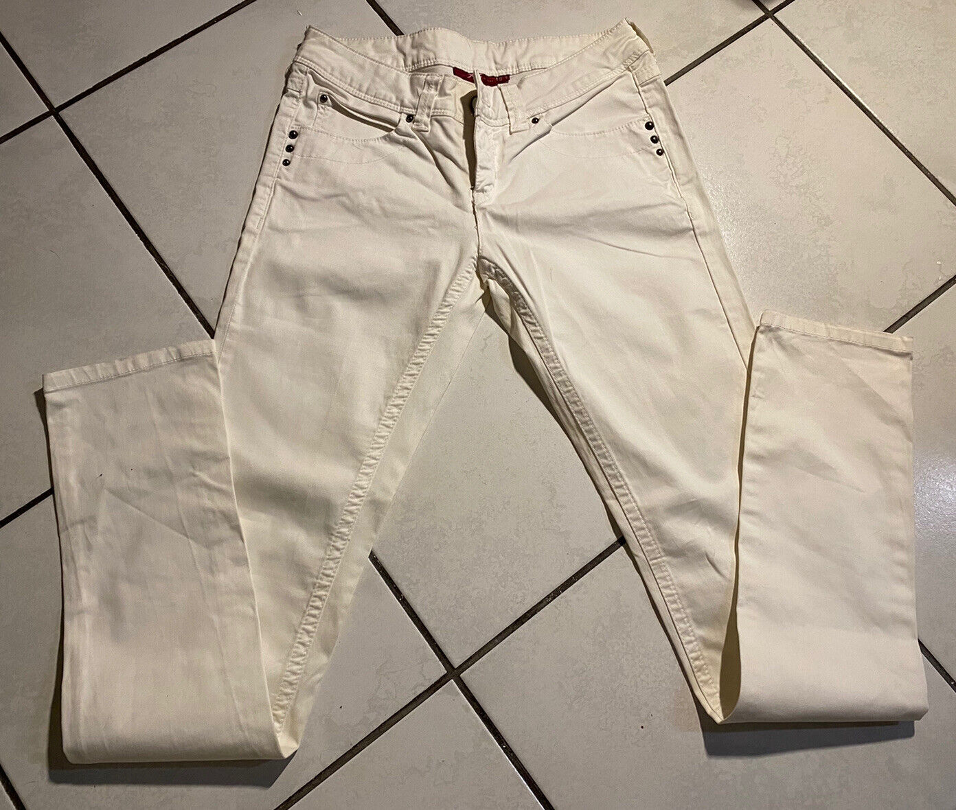 Jean blanc femme xx by mexx taille us 28 fr 38 modele coupe  slim