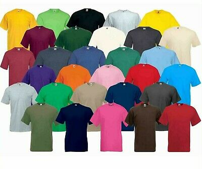 NEW Cotton Plain Blank Men's Women's Tee Shirt Tshirt T-Shirt NEW 100% COTTON