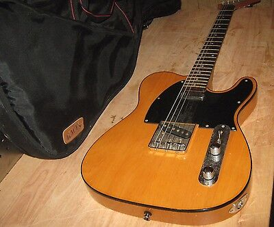 Series 10 Telecaster 6 String Electric Guitar, Blonde Wood, Used Condition