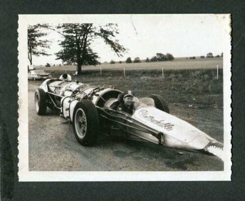 1960s Polaroid Photo Untouchable Jet Engine Dragster Drag Racing Car 419196