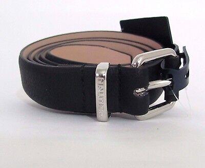C8 NAUTICA Black Silver buckle Classic Women's Belt Sz L/XL
