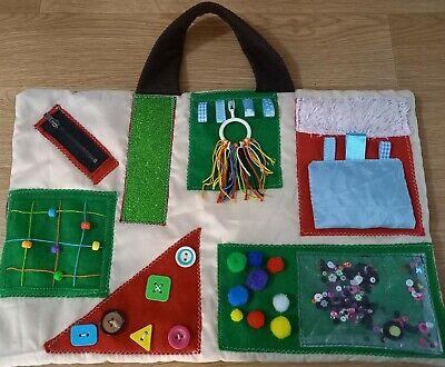 Handmade Sensory Fidget Lap Quilt Blanket Dementia Alzheimer's Autism ADHD