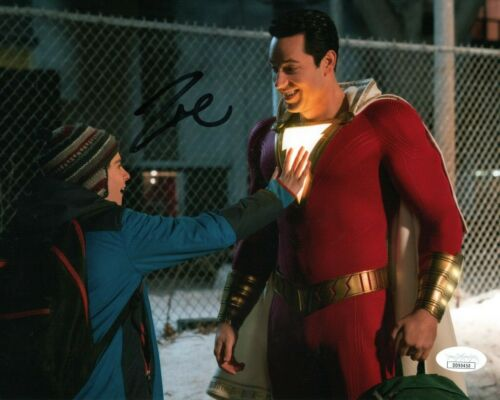 Zachary Levi Shazam Autographed Signed 8x10 Photo JSA COA #MR522