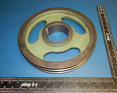 A106 B110 Pulley Sheave Double Groove 3-383.375 Bore No Keyway