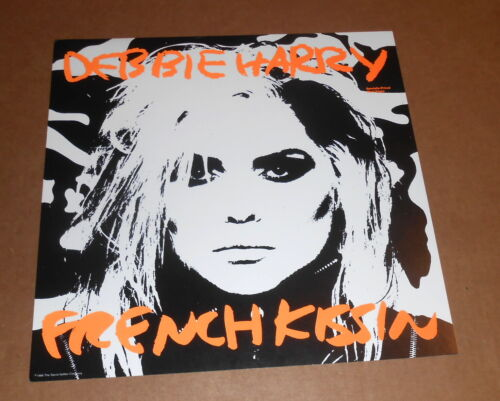 Blondie Debbie Harry French Kissin Poster Flat 1986 Promo 12x12 Andy Warhol RARE