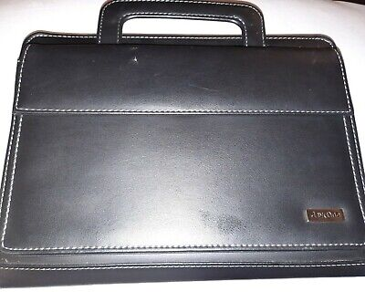 Franklin Covey Day One Zip Portfolio Planner Organizer Black - Slight Damage