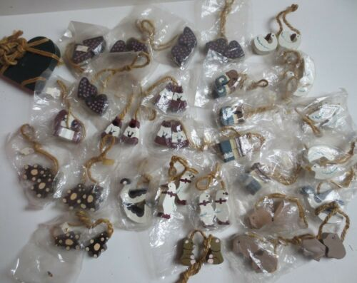 Lot 28 pairs Assorted Handcrafted  Miniature Animals for Country Crafts