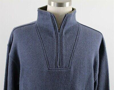 Ultra Ragg Cotton - NEW Orvis Ultra-Ragg Zipneck Sweatshirt MENS MEDIUM Blue Cotton Blend 26XE